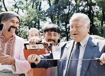 Посла России на Украине Виктора Черномырдина посвятили в запорожские казаки